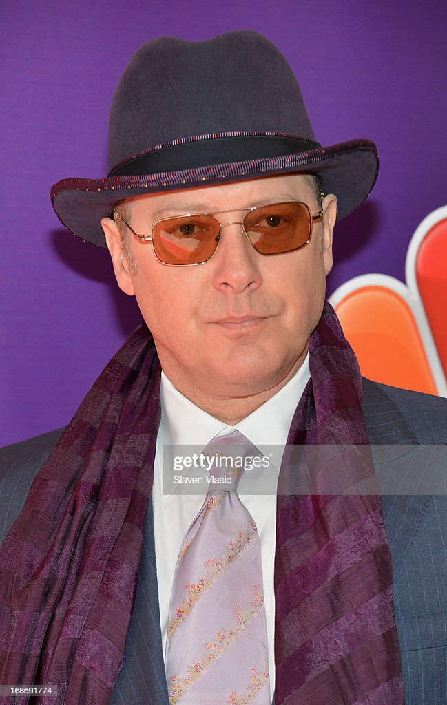 Actor <a gi-track='captionPersonalityLinkClicked' href=/galleries/search?phrase=James+Spader&family=editorial&specificpeople=544640 ng-click='$event.stopPropagation()'>James Spader</a> attends 2013 NBC Upfront Presentation Red Carpet Event at Radio City Music Hall on May 13, 2013 in New York City.