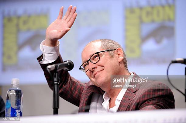 Actor James Spader attends the Marvel Studios panel during ComicCon International 2014 at San Diego Convention Center on July 26 2014 in San Diego...