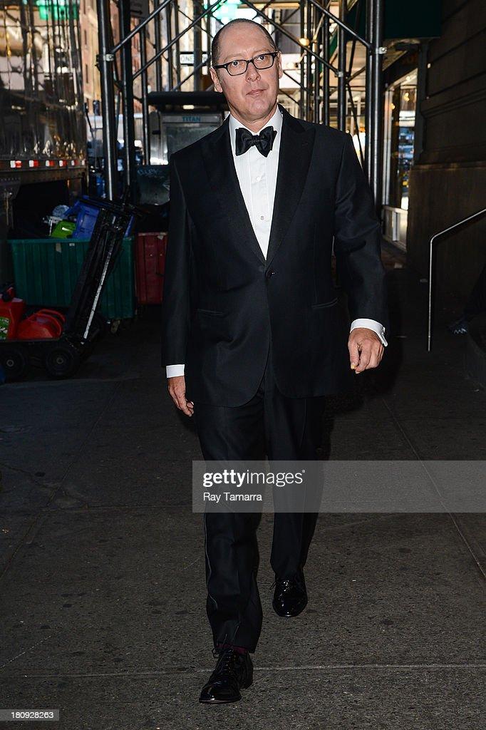 Actor James Spader enters 'The Blacklist' movie set in Midtown Manhattan on September 17, 2013 in New York City.