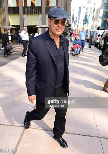 Actor James Spader is seen in Midtown on September 22 2014 in New York City
