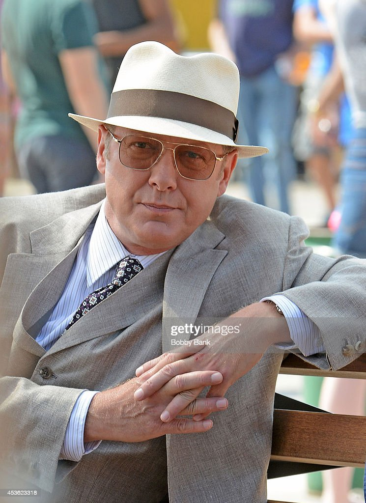 Actor <a gi-track='captionPersonalityLinkClicked' href=/galleries/search?phrase=James+Spader&family=editorial&specificpeople=544640 ng-click='$event.stopPropagation()'>James Spader</a> on the set of 'The Blacklist' on August 14, 2014 in Brooklyn, New York.