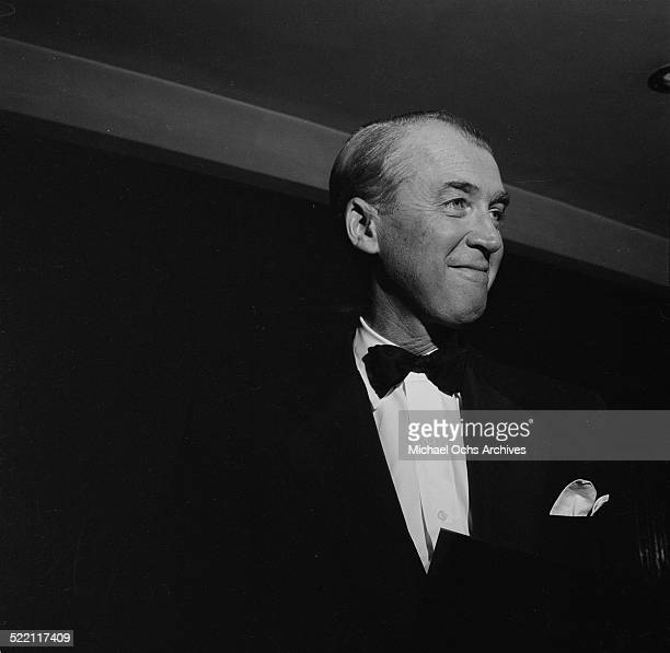 Actor James Stewart attends the movie premiere of 'The Man Who Knew to Much' in Los AngelesCA