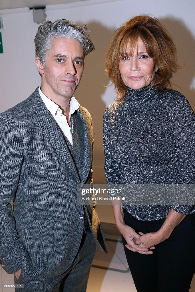 Actor James Thierree and Actress Clementine Celarie attend the 'Vivement Dimanche' French TV Show at Pavillon Gabriel on January 20, 2016 in Paris, France.