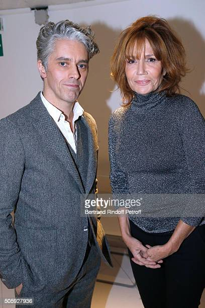 Actor James Thierree and Actress Clementine Celarie attend the 'Vivement Dimanche' French TV Show at Pavillon Gabriel on January 20 2016 in Paris...