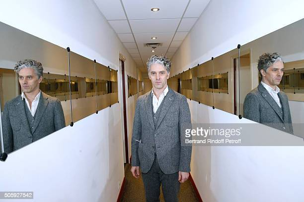Actor James Thierree presents the movie 'Chocolat' during the 'Vivement Dimanche' French TV Show at Pavillon Gabriel on January 20 2016 in Paris...