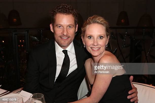 Actor James Tupper and Actress Anne Heche attends Hallmark Hall of Fame's 'One Christmas Eve' Premiere Event at Fig Olive Melrose Place on November...