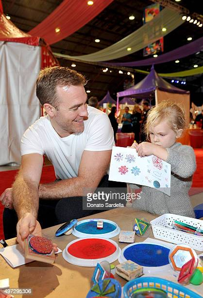 Actor James Van Der Beek and Annabel Leah Van Der Beek attend Express Yourself 2015 to benefit PS ARTS providing arts education to 25000 public...