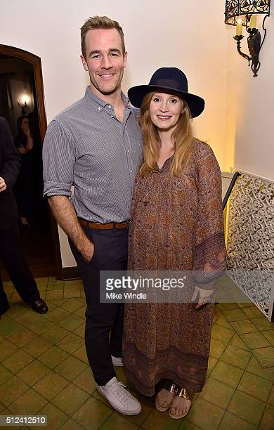 Actor James Van Der Beek and Kimberly Brook attend The Dinner For Equality cohosted by Patricia Arquette and Marc Benioff on February 25 2016 in...