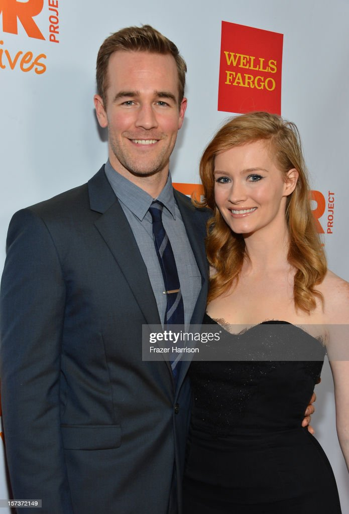 Actor James Van Der Beek (L) and Kimberly Van Der Beek arrive at 'Trevor Live' honoring Katy Perry and Audi of America for The Trevor Project held at The Hollywood Palladium on December 2, 2012 in Los Angeles, California.