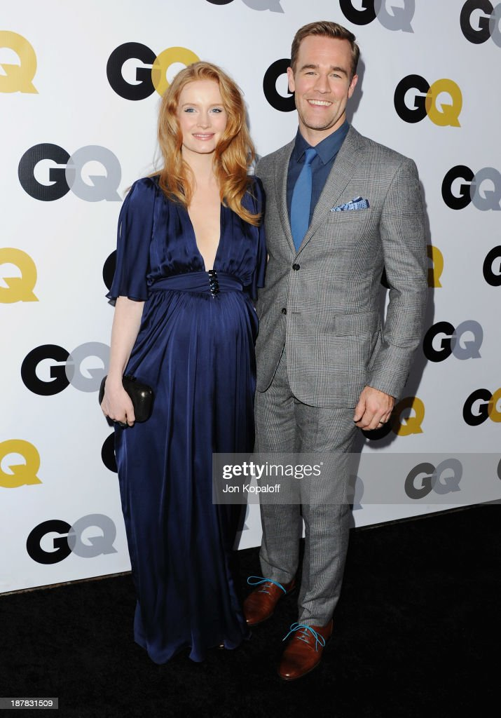 Actor James Van Der Beek and Kimberly Van Der Beek arrives at GQ Celebrates The 2013 'Men Of The Year' at The Wilshire Ebell Theatre on November 12, 2013 in Los Angeles, California.