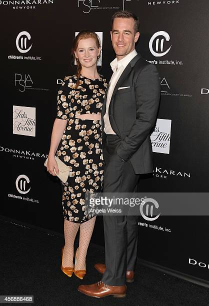 Actor James Van Der Beek and Kimberly Van Der Beek attend the fifth annual PSLA Autumn Party benefiting Childrens Institute Inc sponsored by Saks...