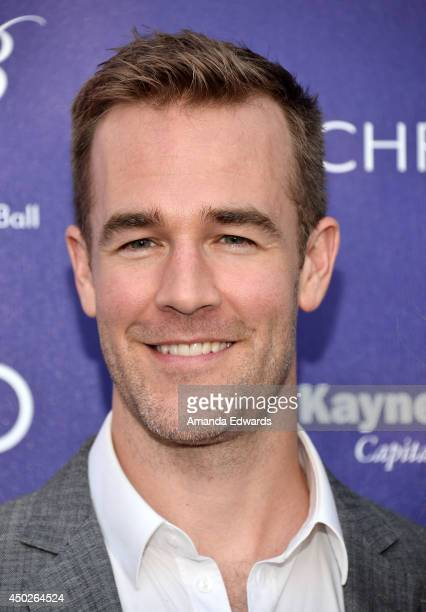 Actor James Van Der Beek arrives at the 13th Annual Chrysalis Butterfly Ball at a private Mandeville Canyon estate on June 7 2014 in Los Angeles...
