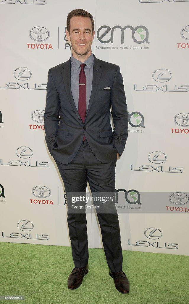 Actor James Van Der Beek arrives at the 2013 Environmental Media Awards at Warner Bros. Studios on October 19, 2013 in Burbank, California.