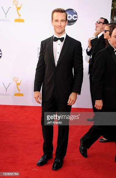 Actor James Van Der Beek arrives at the 64th Primetime Emmy Awards at Nokia Theatre LA Live on September 23 2012 in Los Angeles California