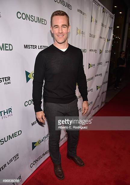 Actor James Van Der Beek attends the Los Angeles premiere of Mister Lister Films' 'Consumed' at Laemmle Music Hall on November 11 2015 in Beverly...