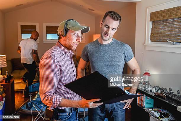 Actor James Van Der Beek rehearsing a scene for a FluMist® Quadrivalent video on September 15 2014