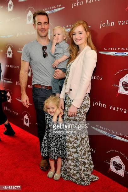 Actor James Van Der Beek son Joshua Van Der Beek daughter Olivia Van Der Beek and wife Kimberly Van Der Beek arrive at the John Varvatos 11th Annual...