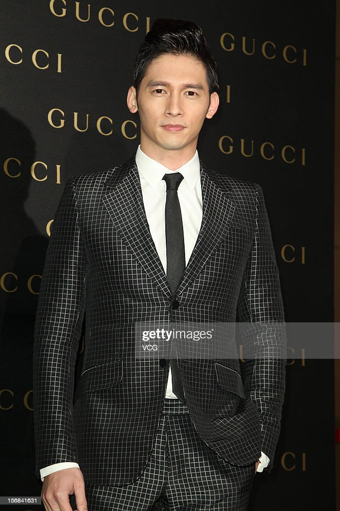 Actor <a gi-track='captionPersonalityLinkClicked' href=/galleries/search?phrase=James+Wen&family=editorial&specificpeople=5898304 ng-click='$event.stopPropagation()'>James Wen</a> attends Gucci store opening ceremony at Taipei 101 on November 22, 2012 in Taipei, Taiwan.