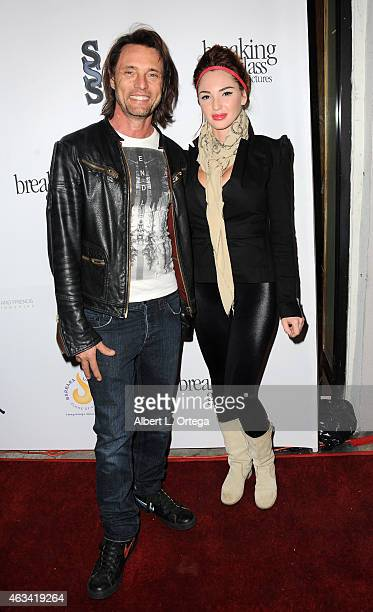 Actor James Wilder ad wife Christine arrive for the Los Angeles Premiere of 'White Rabbit' held at Laemmle Music Hall on February 13 2015 in Beverly...