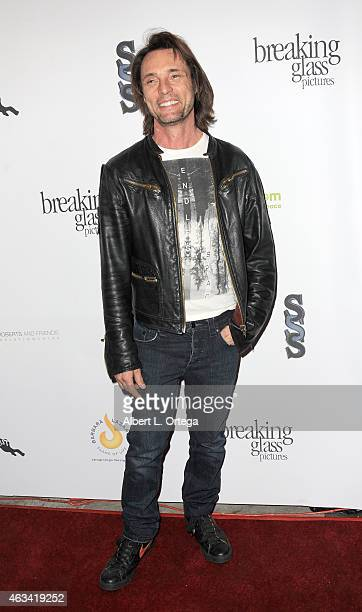 Actor James Wilder arrives for the Los Angeles Premiere of 'White Rabbit' held at Laemmle Music Hall on February 13 2015 in Beverly Hills California
