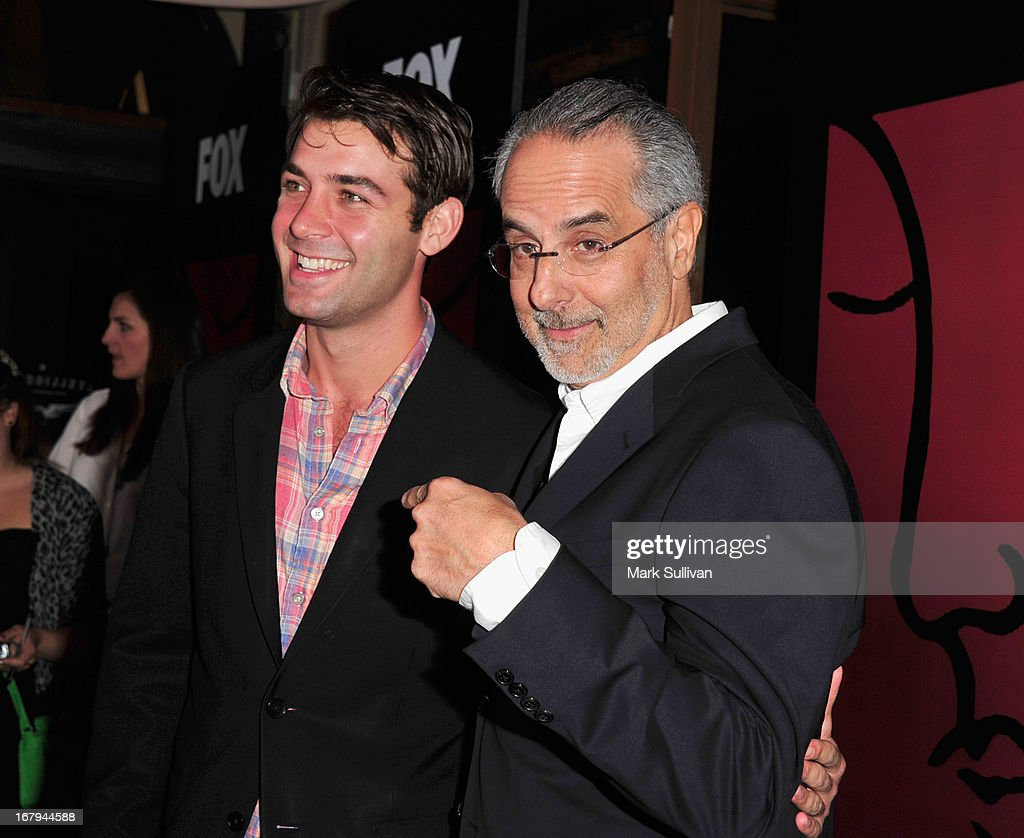 Actor <a gi-track='captionPersonalityLinkClicked' href=/galleries/search?phrase=James+Wolk&family=editorial&specificpeople=6966494 ng-click='$event.stopPropagation()'>James Wolk</a> (L) and WIGS co-creator <a gi-track='captionPersonalityLinkClicked' href=/galleries/search?phrase=Jon+Avnet&family=editorial&specificpeople=220482 ng-click='$event.stopPropagation()'>Jon Avnet</a> arrive for the party to celebrate the one year anniversary of The WIGS Digital Channel at Akasha on May 2, 2013 in Culver City, California.