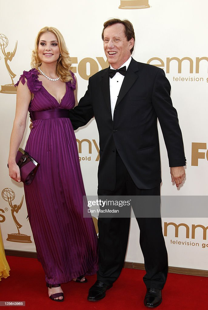 Actor James Woods and Ashley Madison arrives at the 63rd Primetime Emmy Awards held at Nokia Theatre LA Live on September 18 2011 in Los Angeles...