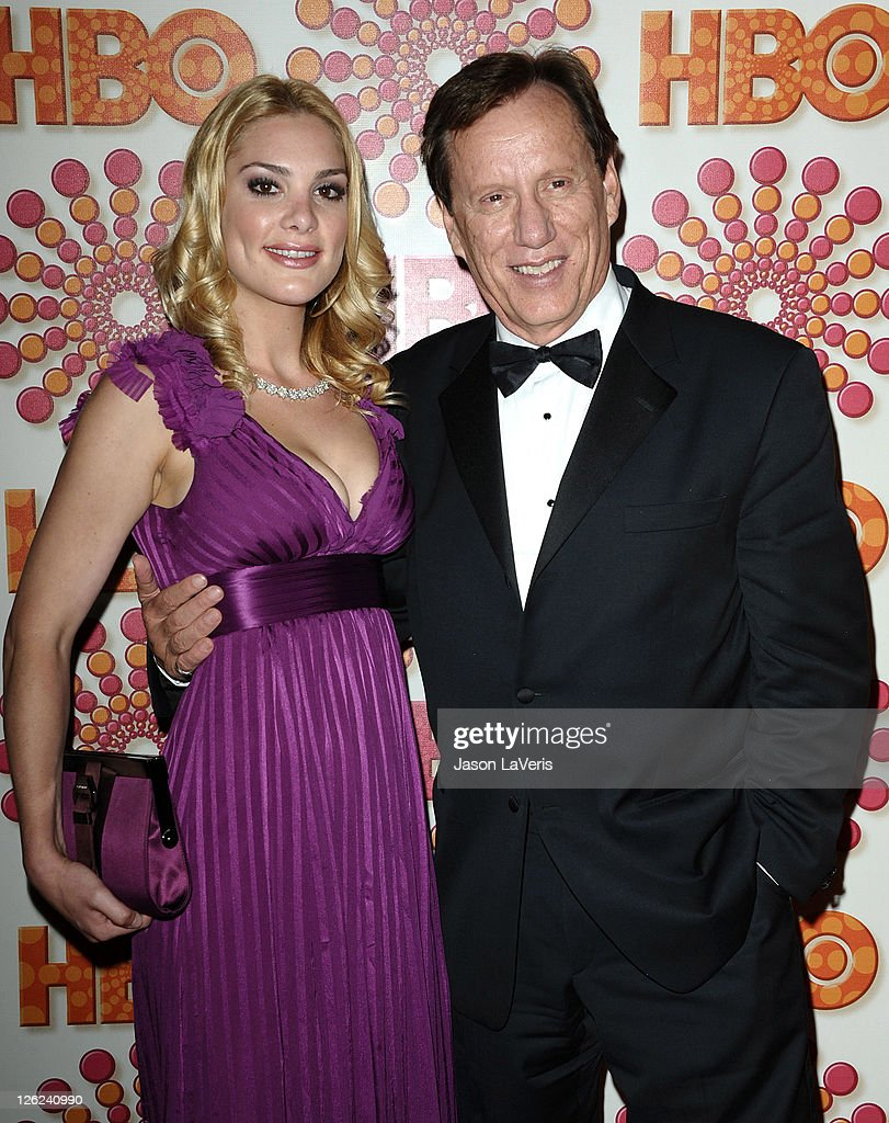 Actor James Woods and Ashley Madison attend HBO's post Emmy party at Pacific Design Center on September 18 2011 in West Hollywood California