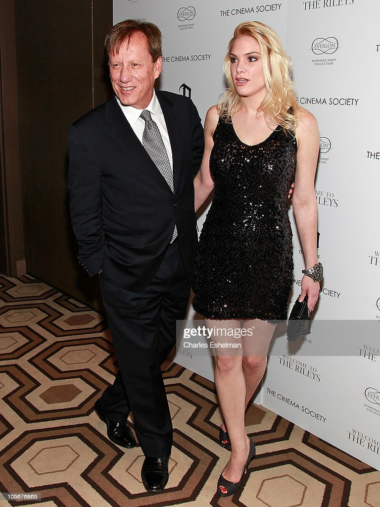 Actor James Woods and Ashley Madison attend The Cinema Society Everlon Diamond Knot Collection host a screening of 'Welcome to the Rileys' at the...
