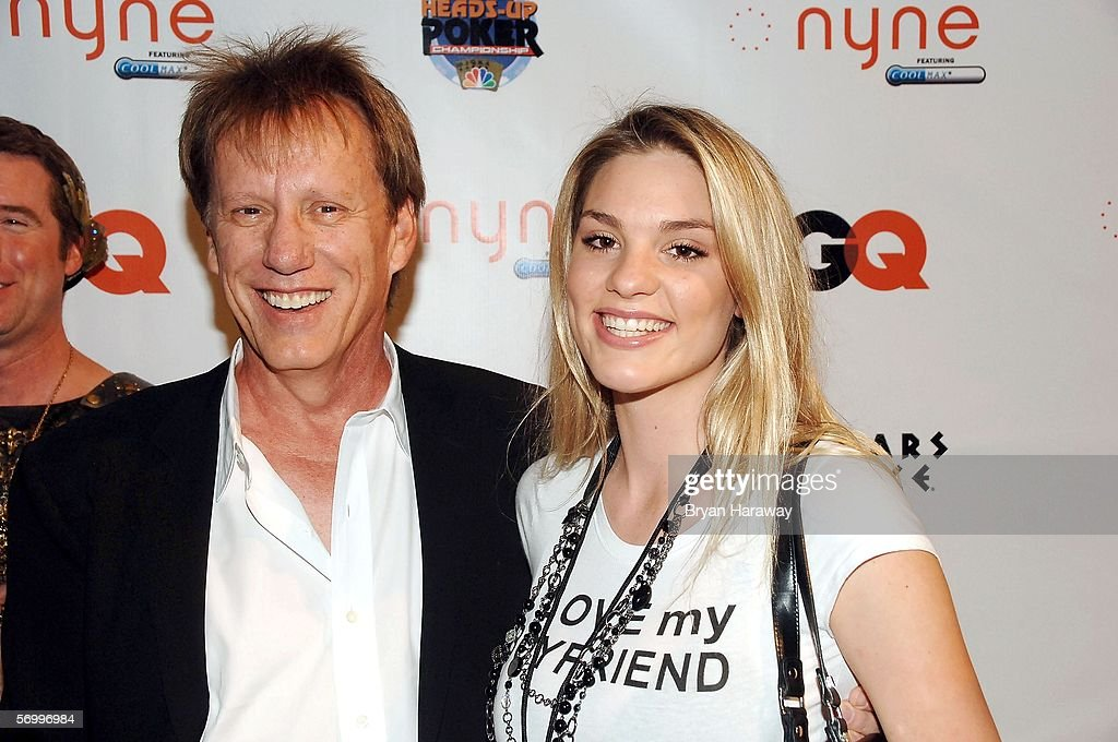 Actor James Woods and Ashley Madison attend the GQ 'Draw Party' at Caesars Palace on March 3 2006 in Las Vegas Nevada GQ Magazine and NBC Sports held...