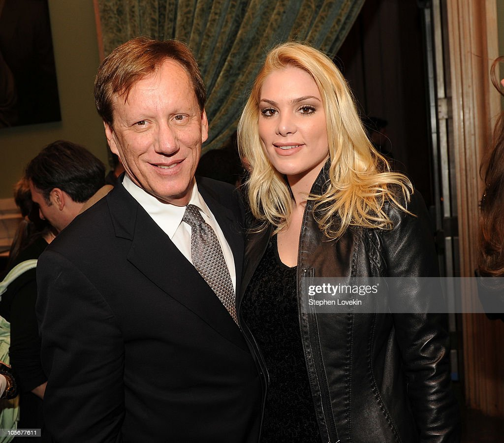 Actor James Woods and girlfriend Ashley Madison attend The Cinema Society Everlon Diamond Knot Collection screening Of 'Welcome To The Rileys' on...