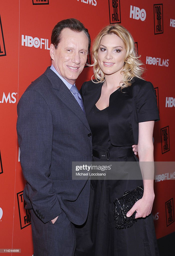 Actor James Woods and girlfriend Ashley Madison attend the 'Too Big To Fail' New York Premiere at The Museum of Modern Art on May 16 2011 in New York...