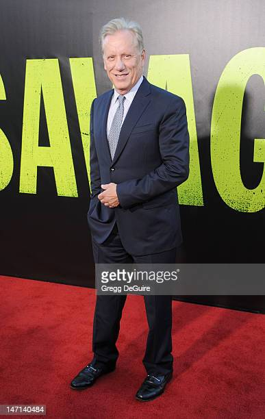 Actor James Woods arrives at the Los Angeles premiere of 'Savages' at Mann Village Theatre on June 25 2012 in Westwood California