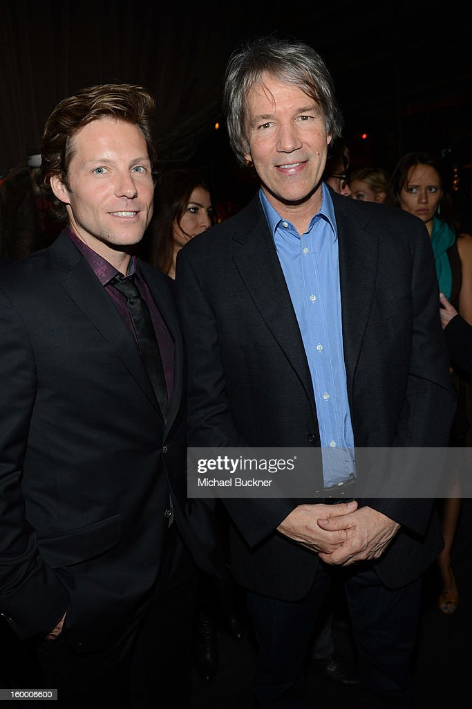 Actor Jamie Bamber and writer/executive producer David E. Kelley attend 'Monday Mornings' Premiere Reception at at BOA Steakhouse on January 24, 2013 in West Hollywood, California. (Photo by Michael Buckner/WireImage) 23200_001_MB_0038.jpg