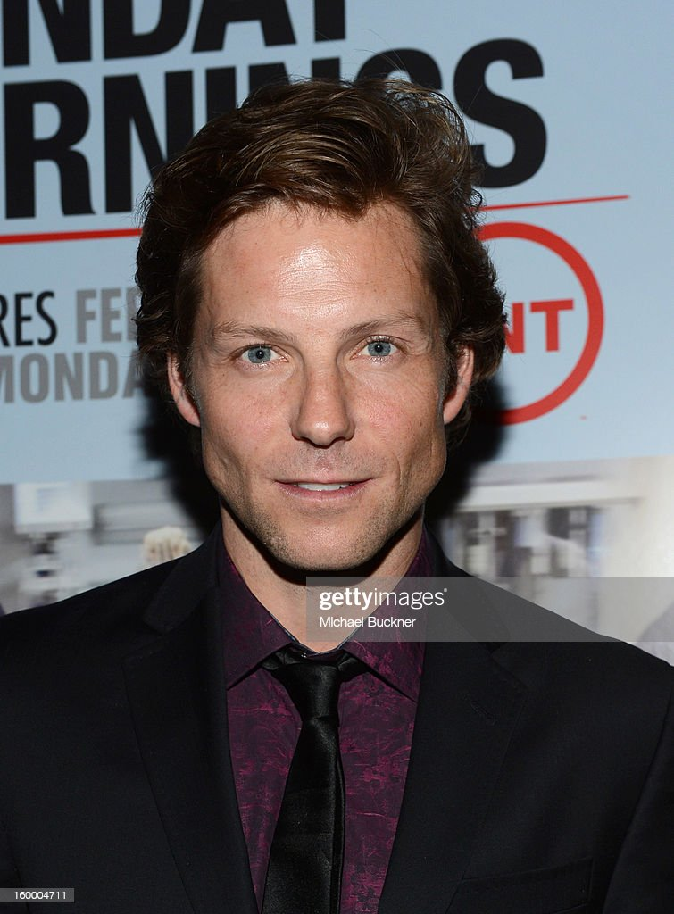 Actor <a gi-track='captionPersonalityLinkClicked' href=/galleries/search?phrase=Jamie+Bamber&family=editorial&specificpeople=4238397 ng-click='$event.stopPropagation()'>Jamie Bamber</a> attends 'Monday Mornings' Premiere Reception at at BOA Steakhouse on January 24, 2013 in West Hollywood, California. (Photo by Michael Buckner/WireImage) 23200_001_MB_0088.jpg