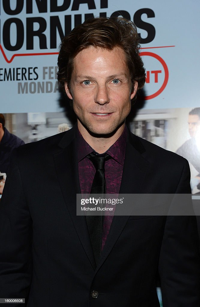 Actor <a gi-track='captionPersonalityLinkClicked' href=/galleries/search?phrase=Jamie+Bamber&family=editorial&specificpeople=4238397 ng-click='$event.stopPropagation()'>Jamie Bamber</a> attends 'Monday Mornings' Premiere Reception at at BOA Steakhouse on January 24, 2013 in West Hollywood, California. (Photo by Michael Buckner/WireImage) 23200_001_MB_0087.jpg