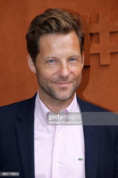 Actor Jamie Bamber attends the 2017 French Tennis Open Day Height at Roland Garros on June 4 2017 in Paris France