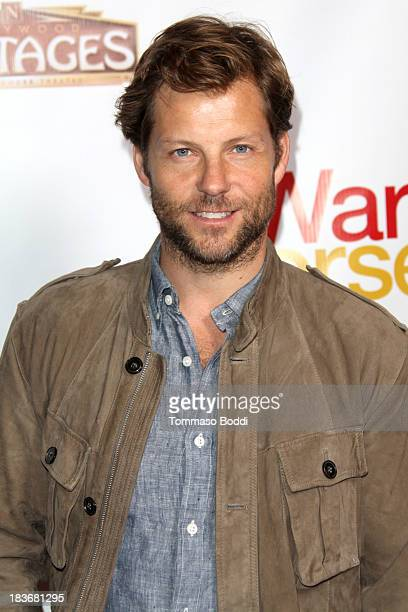 Actor Jamie Bamber attends the 'War Horse' Los Angeles opening night held at the Pantages Theatre on October 8 2013 in Hollywood California