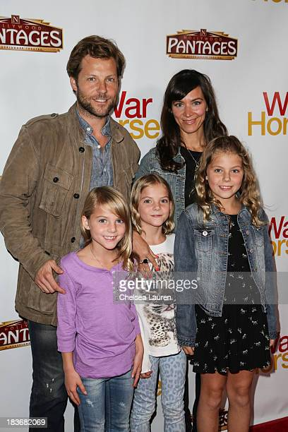 Actor Jamie Bamber attends the 'War Horse' red carpet opening night at the Pantages Theatre on October 8 2013 in Hollywood California