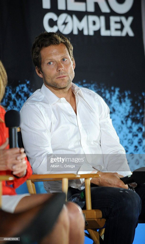 Actor <a gi-track='captionPersonalityLinkClicked' href=/galleries/search?phrase=Jamie+Bamber&family=editorial&specificpeople=4238397 ng-click='$event.stopPropagation()'>Jamie Bamber</a> participates in the 5th Annual Hero Complex Film Festival - 'Battlestar Galactica' Screening and Q&A held at the TCL Chinese Theater on May 30, 2014 in Hollywood, California.