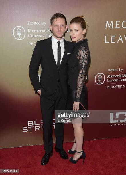Actor Jamie Bell and actress Kate Mara attend the 'Megan Leavey' World Premiere at Yankee Stadium on June 5 2017 in the Bronx borough of New York City