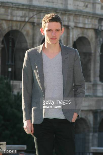Actor Jamie Bell attends a photocall for 'Jumper' at the Colosseum on February 6 2008 in Rome Italy