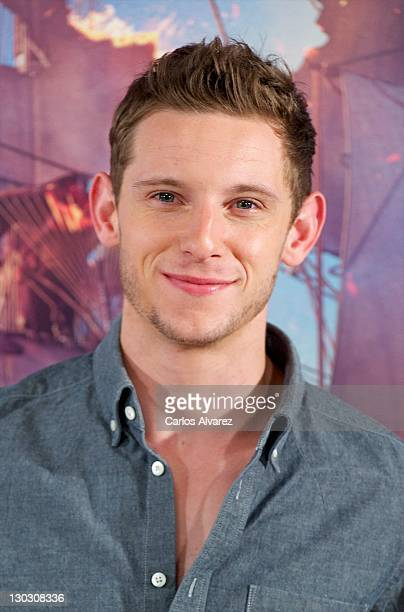 Actor Jamie Bell attends 'Las Aventuras de TinTin El Secreto del Unicornio' photocall at Villamagna Hotel on October 26 2011 in Madrid Spain