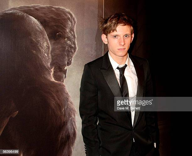 Actor Jamie Bell attends the after show party following the UK Premiere of 'King Kong' at Freemason's Hall on December 8 2005 in London England