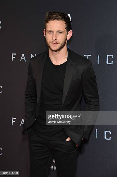 Actor Jamie Bell attends the New York premiere of 'Fantastic Four' at Williamsburg Cinemas on August 4 2015 in New York City