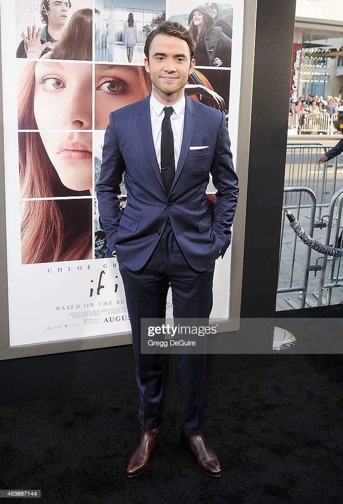 Actor Jamie Blackley arrives at the Los Angeles premiere of 'If I Stay' at TCL Chinese Theatre on August 20, 2014 in Hollywood, California.