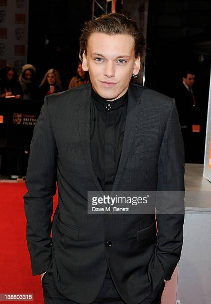 Actor Jamie Campbell Bower arrives at the Orange British Academy Film Awards 2012 at The Royal Opera House on February 12 2012 in London England