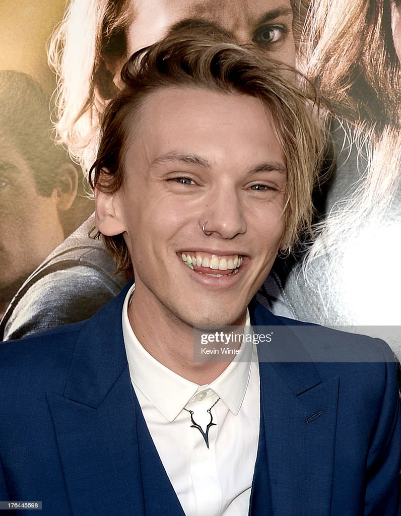 Actor <a gi-track='captionPersonalityLinkClicked' href=/galleries/search?phrase=Jamie+Campbell+Bower&family=editorial&specificpeople=4586724 ng-click='$event.stopPropagation()'>Jamie Campbell Bower</a> arrives at the premiere of Screen Gems & Constantin Films' 'The Mortal Instruments: City Of Bones' at the Cinerama Dome Theatre on August 12, 2013 in Los Angeles, California.