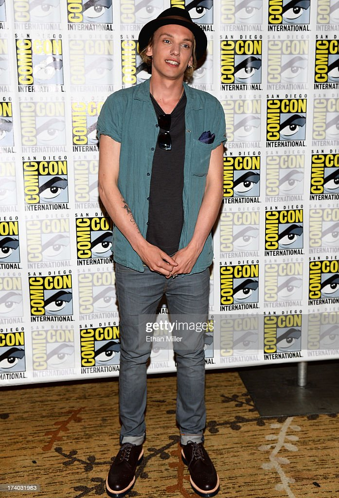 Actor Jamie Campbell Bower attends 'The Mortal Instruments: City of Bones' press line during Comic-Con International 2013 at the Hilton San Diego Bayfront Hotel on July 19, 2013 in San Diego, California.