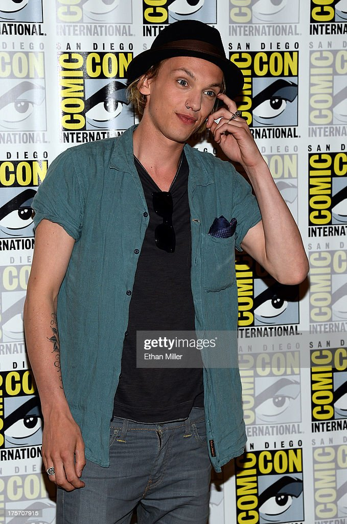 Actor Jamie Campbell Bower attends 'The Mortal Instruments: City of Bones' press line at the Hilton San Diego Bayfront Hotel on July 19, 2013 in San Diego, California.