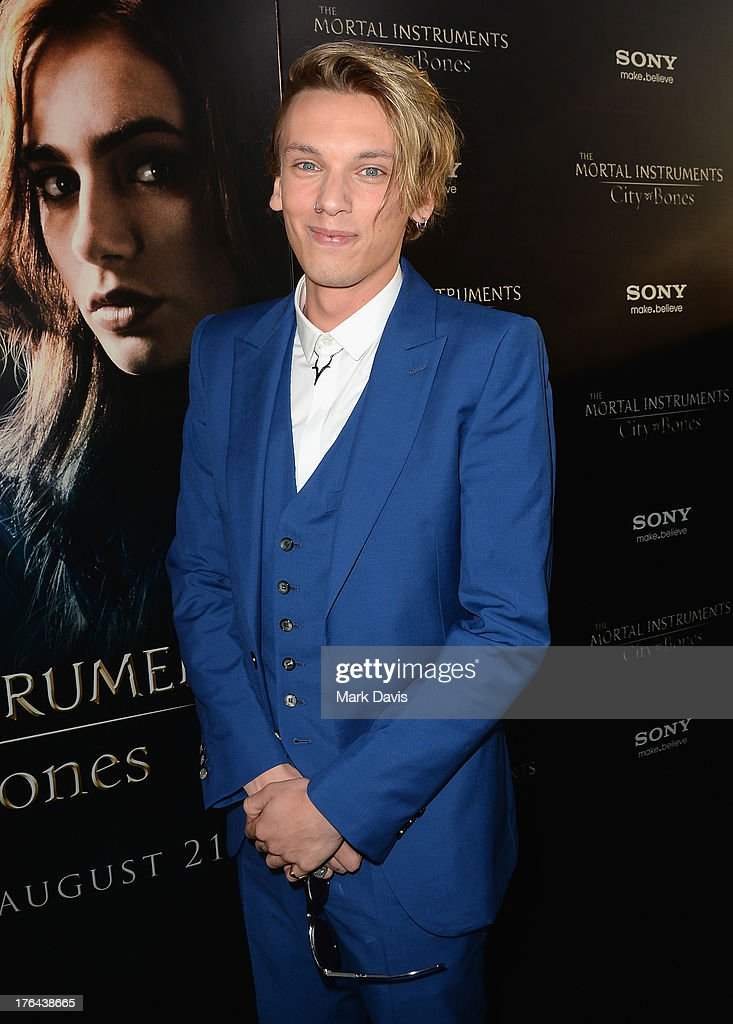 Actor <a gi-track='captionPersonalityLinkClicked' href=/galleries/search?phrase=Jamie+Campbell+Bower&family=editorial&specificpeople=4586724 ng-click='$event.stopPropagation()'>Jamie Campbell Bower</a> attends the premiere of Screen Gems & Constantin Films' 'The Mortal Instruments: City of Bones' at ArcLight Cinemas Cinerama Dome on August 12, 2013 in Hollywood, California.